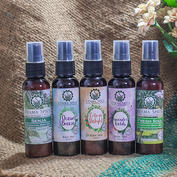 utama spice has five different kinds of body mist