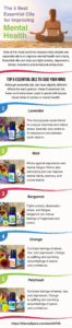 5 best essential oils for improving mental health infographic