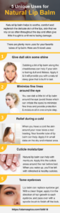5 unique uses for natural lip balm infographic