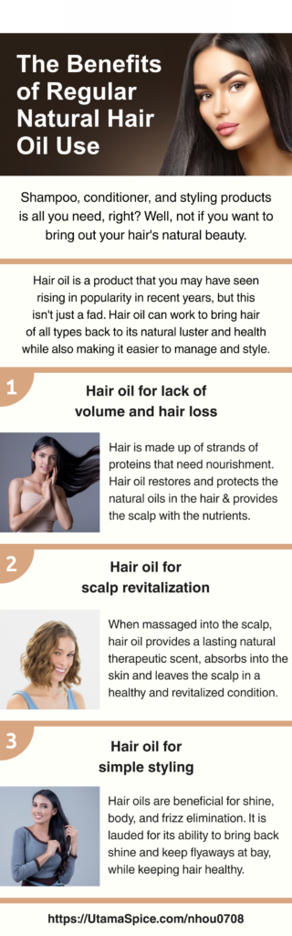 benefits of regular natural hair oil use infographic