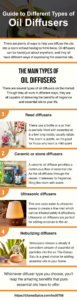 guide to different types of oil diffusers infographic