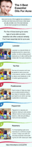 the 5 best essential oils for acne infographic