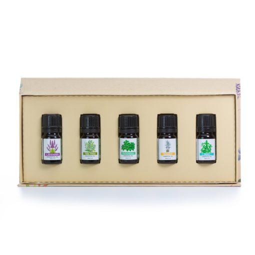 natures aid essential oil set open white