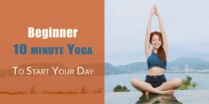 10 minute yoga workout header