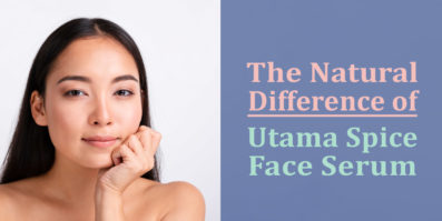the natural difference of utama spice face serum header