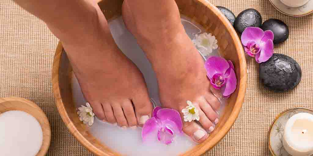 Footbath With Orchid