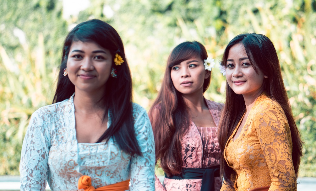 a group of balinese girls