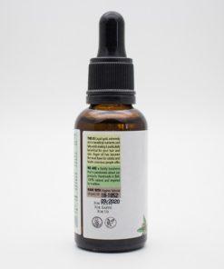 argan oil back of the label