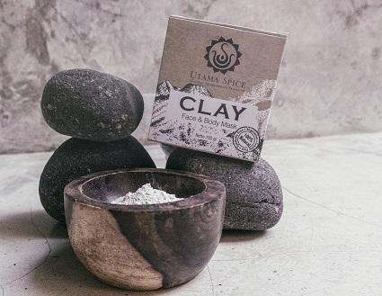 clay in packaging